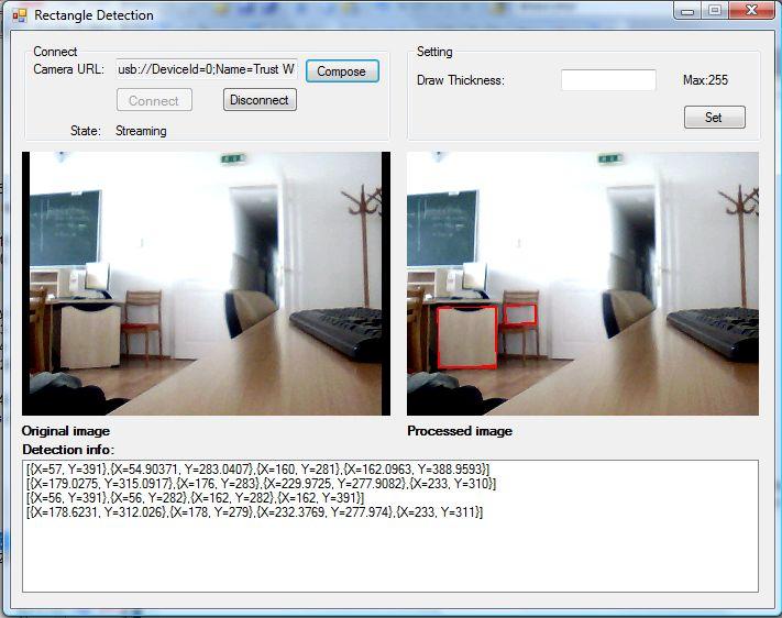 C Camera Sdk How To Create Rectangle Detector In C