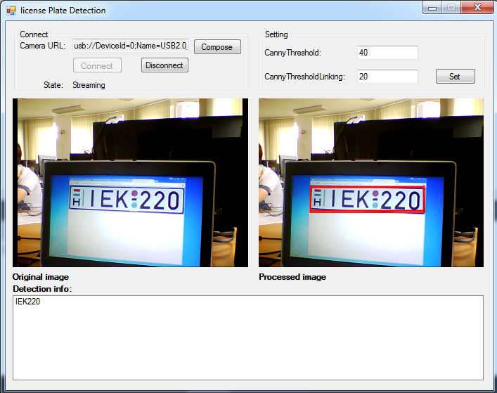 C# Camera SDK: How to implement license plate recognition in C#