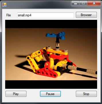 C# Camera SDK: How to play media files in C#