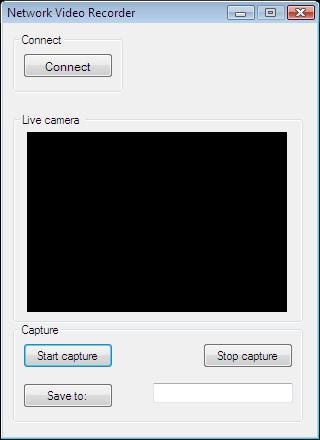 The Graphical User Interface of an application for recording audio and video stream into .MPEG-4 in C#