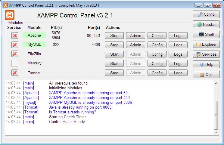 How to setup XAMPP webserver
